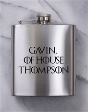 Personalised GOT Hip Flask