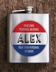 Personalised Stamp Hip Flask