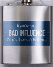 Personalised Bad Influence Hip Flask