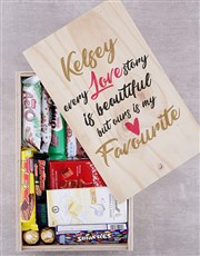 Personalised Love Story Chocolate Crate
