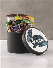 Personalised Glitter Bunny Hat Box