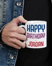 Personalised Rainbow Birthday Mug
