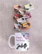 Personalised Floral Birthday Mug