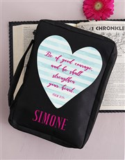 Personalised Good Courage Bible Case