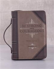 Personalised Be Strong & Courageous Bible Case