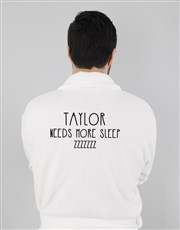Personalised Need More Sleep Gown