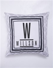 Personalised Modern Name Blanket or Cushion