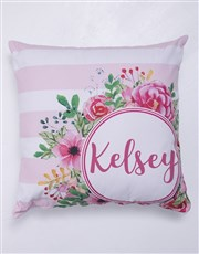 Personalised Floral Blanket or Cushion