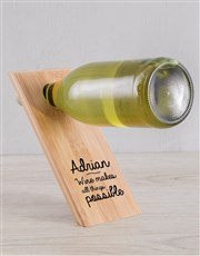 With Wine Personalised Wine Bottle Holder
