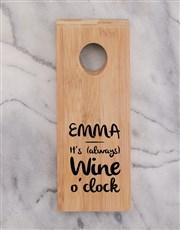 Time for Wine Bottle Holder