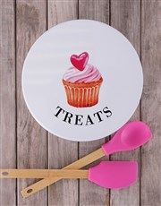 Treat a loved one with a white cookie tin which fe