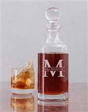 Personalised Tall Fine Alcohol Decanter