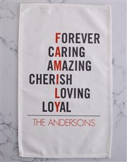 Family tea-towel