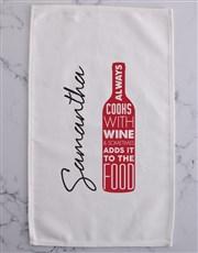 Cook with wine tea-towel