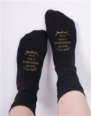 Personalised Makes Everything Better Socks