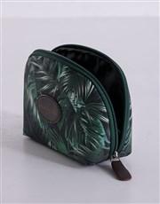 Personalised Botanical Flower Cosmetic Bag