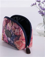 Personalised Watercolour Floral Cosmetic Bag