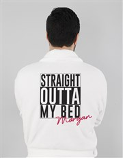 Personalised Straight Outta Bed Gown