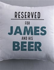 Personalised Reserved For Him Scatter Cushion