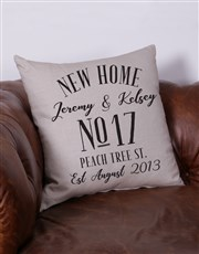 Personalised New Home Scatter Cushion