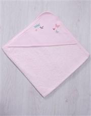 Personalised Butterflies Hooded Towel