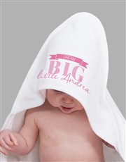 Personalised Dream Big Girl Hooded Towel