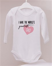 Personalised Worlds Greatest Dad Onesie