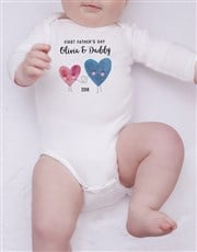 Personalised First Fathers Day Girl Onesie