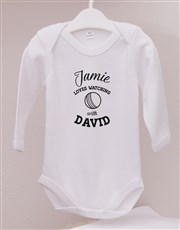 Personalised Cricket With Daddy Onesie