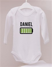 Personalised Charged Baby Onesie