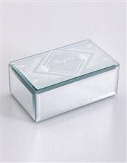 Personalised Mandala Mirror Trinket Box