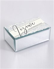 Personalised Lace Mirror Trinket Box