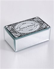 Personalised Distressed Mirror Trinket Box
