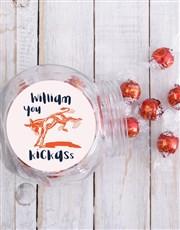Personalised Kickass Candy Jar