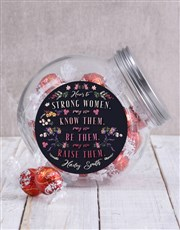 Personalised Strong Women Candy Jar