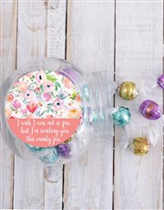 Personalised Floral Candy Jar
