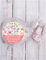 Personalised Floral Candy Jar