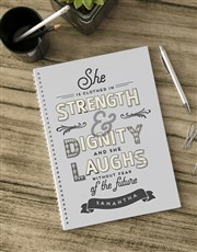 Order this Personalised Laughs Without Fear Notebo
