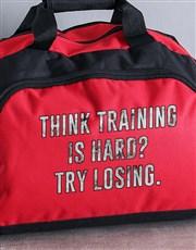 Personalised Training Hard Gym Bag
