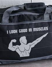 Personalised I Look Good Gym Bag