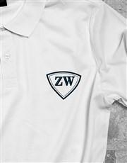 Personalised White Mens Golfer