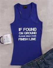Personalised Finish Line Ladies Top