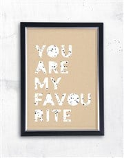 Personalised Favourite Framed Wall Art