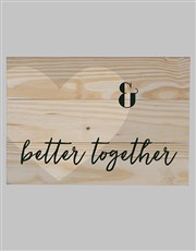 Personalised Better Together Wall Art