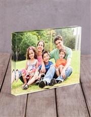 Personalised Family Photo Acrylic Block