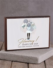 Personalised You Day Wooden Block