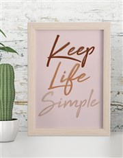 Personalised Simple Life Framed Wall Art