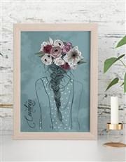 Personalised Flower Crown Framed Wall Art