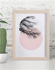 Personalised Blush Branch Framed Wall Art