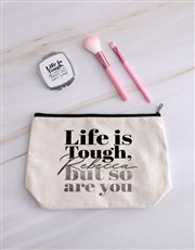 Personalised Life Is Tough Cosmetic Bag